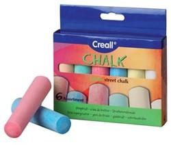 Havo stoepkrijt Chalk doos van 6 stuks