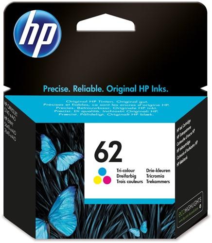 HP 62 cartridge C2P06AE kleur inhoud 4,5 ml