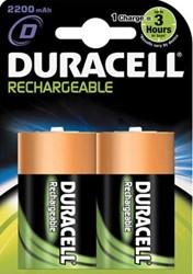 Duracell oplaadbare batterij Supreme HR20 D 2 stuks