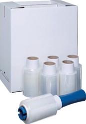 Transpal stretchfolie Handy Wrap, ft 10 cm x 150 m x 15 micron, transparant, pak van 6 stuks