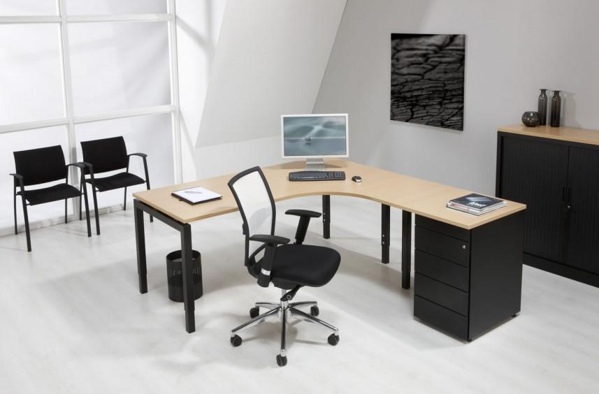 Bedwelming Hoekbureau 160x120 ProLine Quad4 - Links - Wit - Wit bij Pro Office @KU79