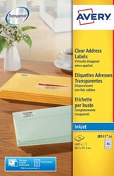 AVERY transparante etiketten 38,1 x 21,2mm 65 etiketten per vel