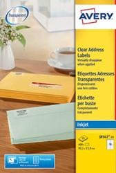 AVERY transparante etiketten QuickPEEL ft 99,1 x 33,9 mm, 400 stuks, 16 etiketten per blad