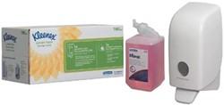 Kleenex startpakket schuimzeepdispenser, bevat Aquarius dispenser (ref. K6948) en zeep