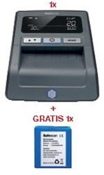 Actie Safescan: 1 x valsgelddetector 155S, zwart + 1 x oplaadbare batterij LB-105 GRATIS