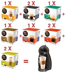 Nescafé Dolce Gusto actie: 10 x Dolce Gusto cups + GRATIS Dolce Gusto Piccolo koffiemachine