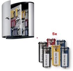 Durable actie,1x sleutelkast 36 sleutels (ref.D195223)+GRATIS 5 x sleutelhanger assorti (ref. D195700)