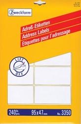Avery Adresetiketten 95 x 47 mm Wit                      Doos van 240 etiketten