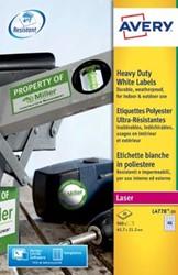 AVERY weerbestendige etiketten ft 45,7 x 21,2 mm, 960 stuks, 48 per blad