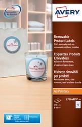 AVERY Afneembare productetiketten diameter: 60 mm, rond, 240 stuks, 12 per blad, doos van 20 blad