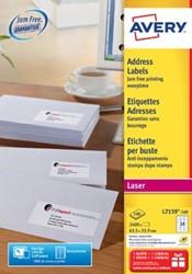 AVERY laseretiketten 63,5 x 33,9mm 24 etiketten per vel