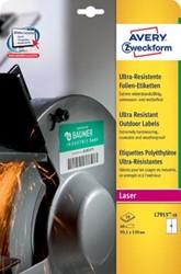 Avery ultra resistente etiketten voor buiten ft 99,1 x 139 mm (b x h), doos van 40 etiketten