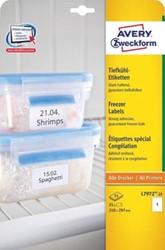 Avery diepvriesetiketten Ft 210 x 297 mm, wit, doos van  25 etiketten