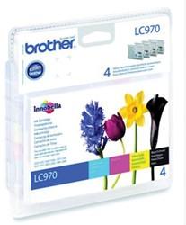 Brother inkjet Brother LC970VALBP Inktcartridge Bundle BK,C,M,Y,