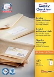 AVERY gerecycleerde etiketten ft 105 x 148 mm, 400 stuks, 4 per blad