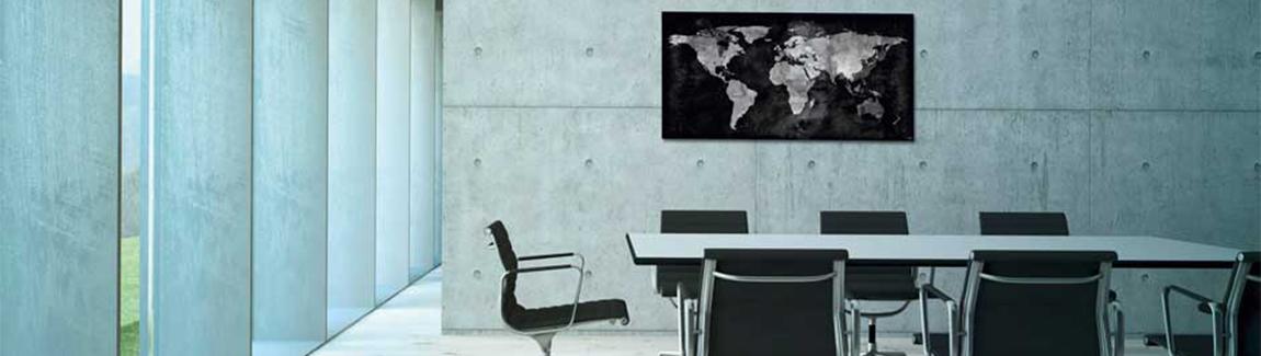 Magneetbord wereldkaart