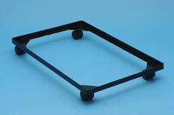 Really Useful Box accessoires voor opbergdozen onderstel met wieltjes (diameter: 4,5 mm) uit zwarte ...