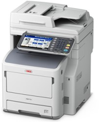 OKI MB770dfn  A4 multifunctional LED 52ppm + finisher + full colour touchscreen+ internal finisher