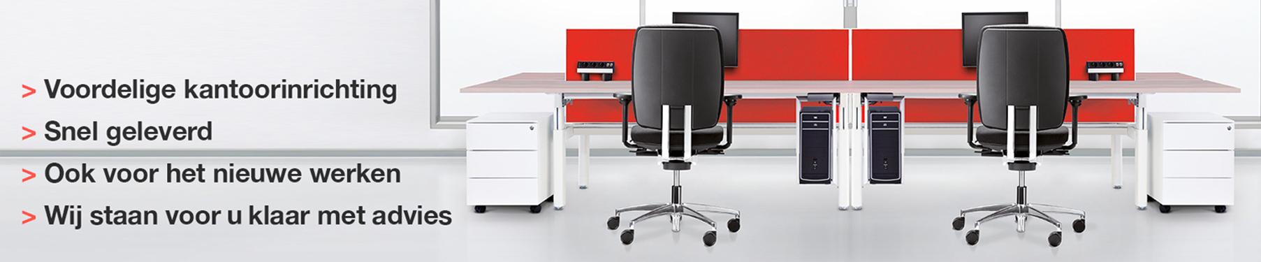 Online kantoormeubelen bestellen. Voordelige kantoormeubelen, snel geleverd. Vanaf € 500,00 gratis geleverd en gemonteerd.
