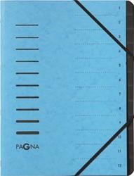 Pagna sorteermap voor ft A4, 12 vakken, blauw