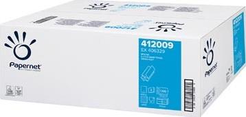 Papernet papieren handdoeken Z-vouw 2-laags 200 vellen wit