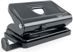 Rapesco metalen 2-gaats perforator 810 zwart, op blister