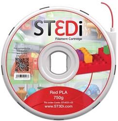 ST3Di Cartridge PLA 750G rood voor St3di Printer