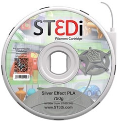 ST3Di cartridge PLA 750G zilver voor St3di Printer