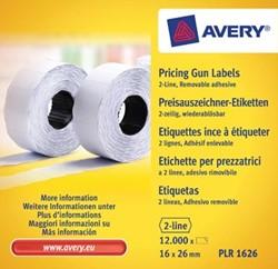 Avery prijsetiketten voor prijstang non-permanent