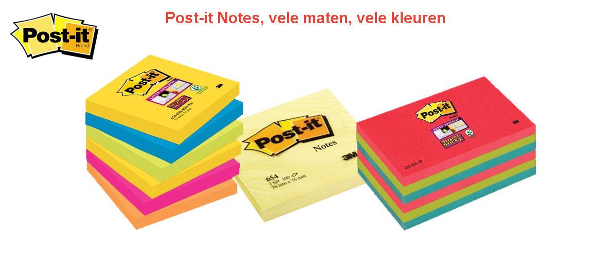Altijd gemakkelijk, altijd handig. Post-it notes op het bureau