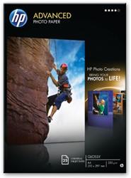 Hewlett Packard Fotopapier 250 gram pak van 25 blad