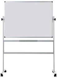 Verrijdbaar whiteboard 120x150cm tweezijdig te gebruiken