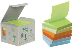 Post-it Z-Notes gerecycled 76 x 76 mm regenboog