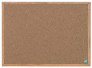 Prikbord kurk met houten lijst 60 x 90 cm