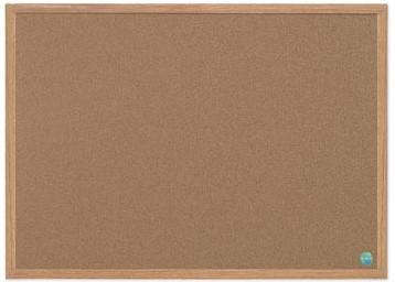 Prikbord kurk met houten lijst 90 x 120 cm
