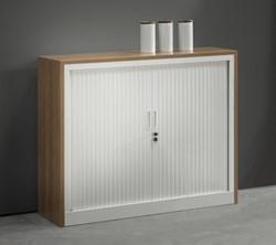 Roldeurkast met houten ombouw 105 x 120 x 43 cm