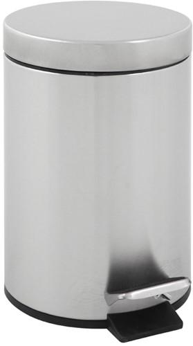 Ronde pedaalemmer 5 liter  - Mat RVS