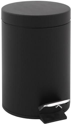Ronde pedaalemmer 5 liter  - Zwart