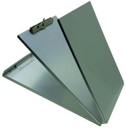 Klemplaat ft 21,6 x 33 cm, met vooraan beschermplaat en achteraan extra plaat om papieren op te bergen