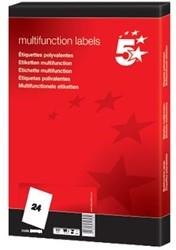 5Star universele etiketten  70 x 36mm 24 etiketten per vel