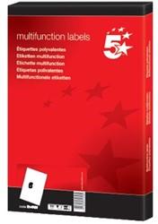 5Star universele etiketten  99,1 x 93,1mm 6 etiketten per vel