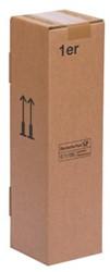 Flesverpakking  voor 1 fles 12 x 12 x 44,4 cm bruin pk/20