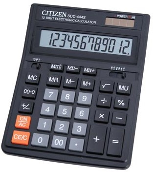 Desq bureaurekenmachine SDC-444S zwart