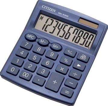 Citizen bureaurekenmachine SDC-810, marineblauw