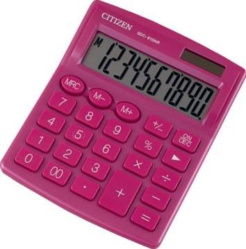 Citizen bureaurekenmachine SDC-810, roze