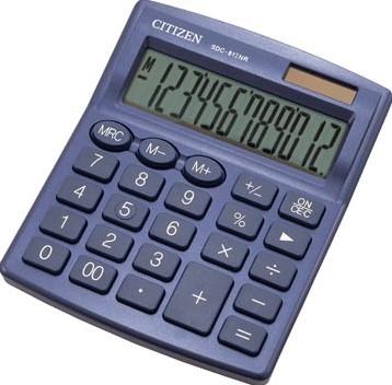 Citizen bureaurekenmachine SDC-812, marineblauw