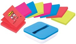 Post-it®  Z-Notes Dispenser 76 x 76 mm Neon              8 x Post-it Super Sticky Z-Notes en dispenser