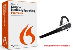 Spraakherkenningssoftware Dragon NaturallySpeaking Premium 13.0 Wireless