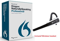 Spraakherkenningssoftware Dragon NaturallySpeaking Professional 13.0 Wireless