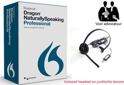 Spraakherkenningssoftware Dragon NaturallySpeaking Professional 13.0 legal NL